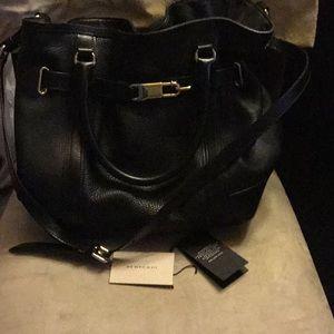 Burberry large black leather purse FINAL SALE